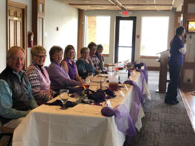 Head Table at April Membership Meeting