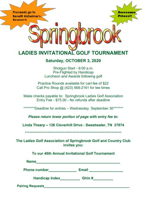 Springbrook Invitational 2020