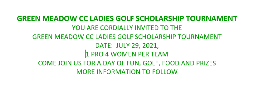 Green Meadows Golf Scholarship Tournament